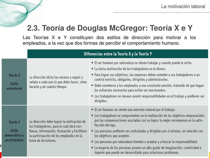2.3. Teoría de Douglas McGregor: Teoría X e Y