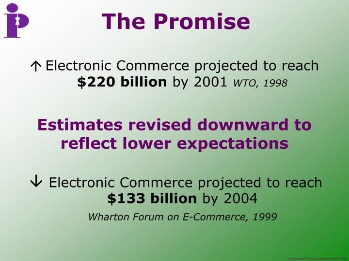 Electronic Commerce projected to reach