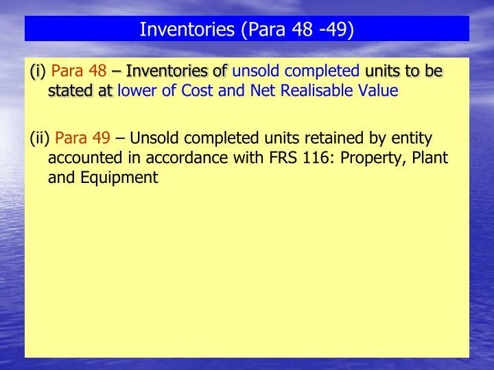 Inventories (Para 48 -49)