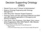 decision supporting ontology dso
