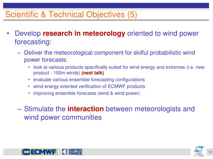 Scientific & Technical Objectives (5)