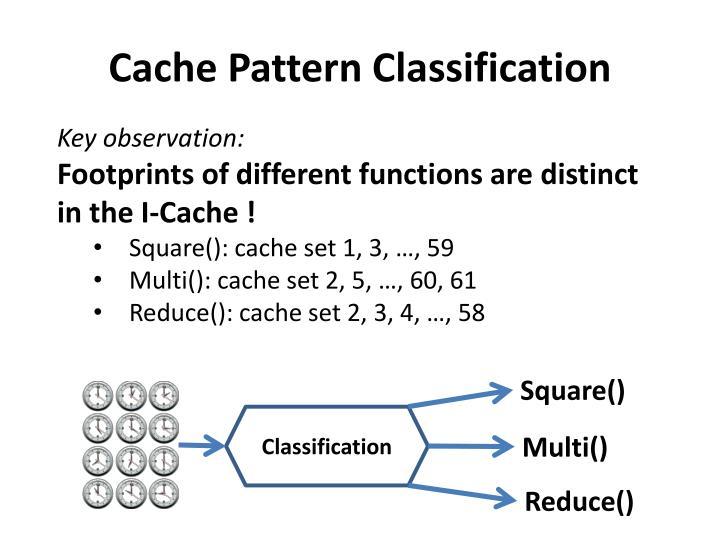 Cache Pattern Classification