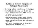 building a domain independent dialogue move engine