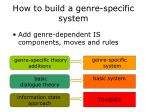 how to build a genre specific system