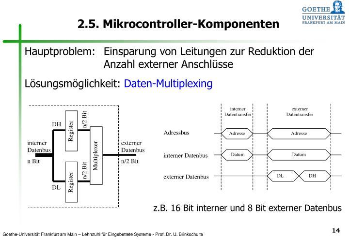 PPT - 2.5. Mikrocontroller-Komponenten PowerPoint Presentation - ID ...