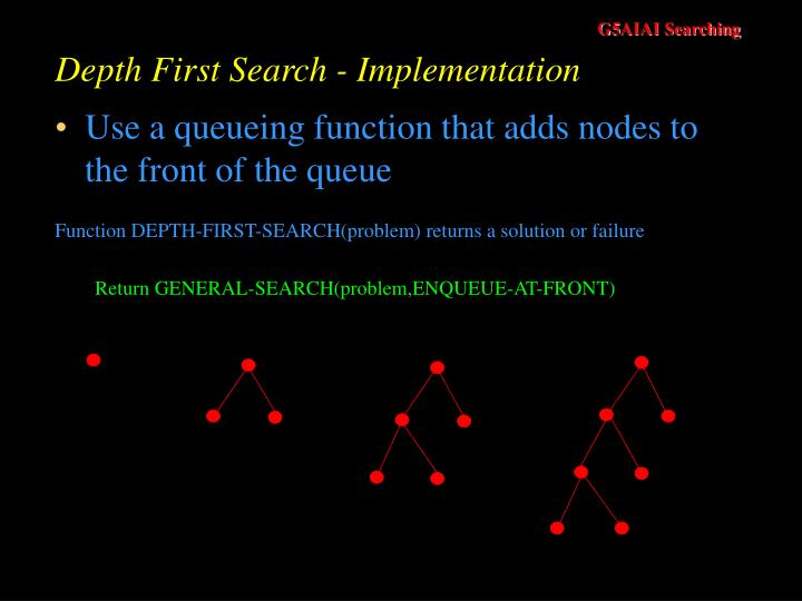 Depth First Search - Implementation