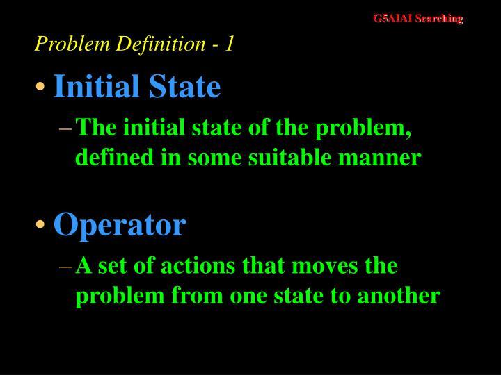 Problem definition 1