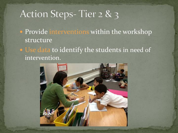 Action Steps- Tier 2 & 3