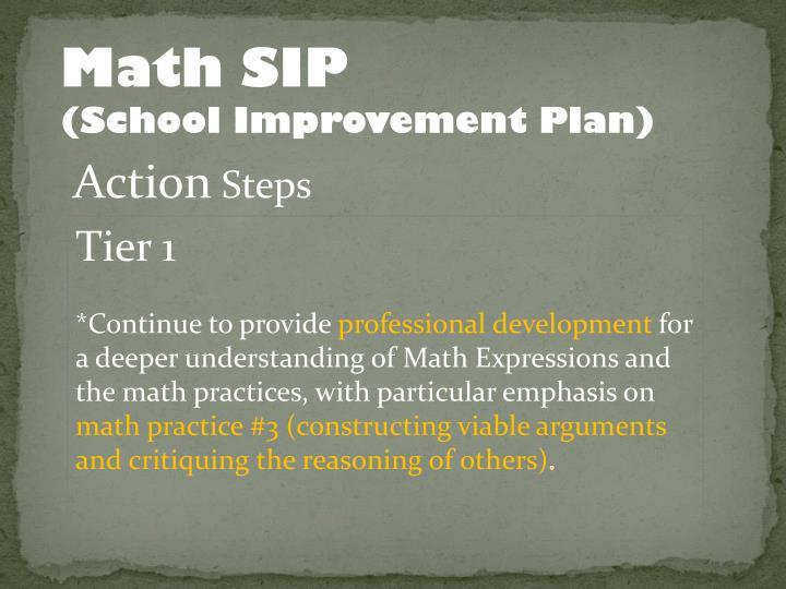 Math SIP