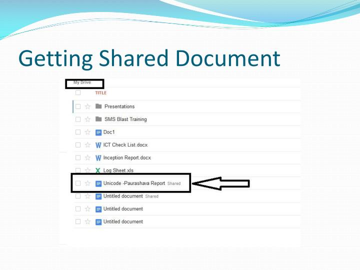 Getting Shared Document