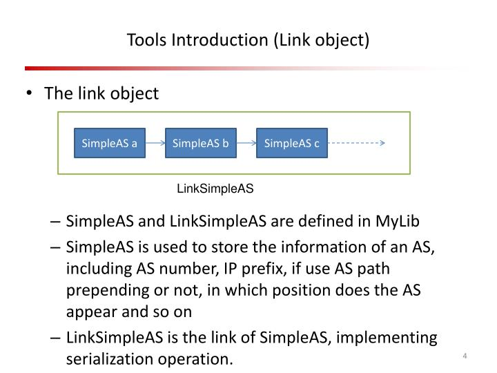 Tools Introduction (Link object)