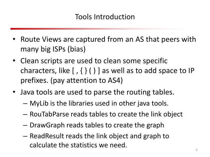 Tools introduction