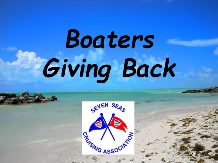 boaters giving back n.