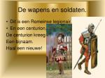 de wapens en soldaten