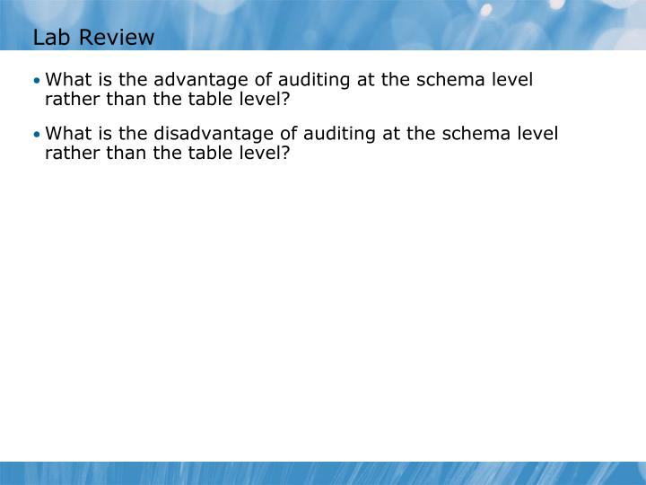 Lab Review