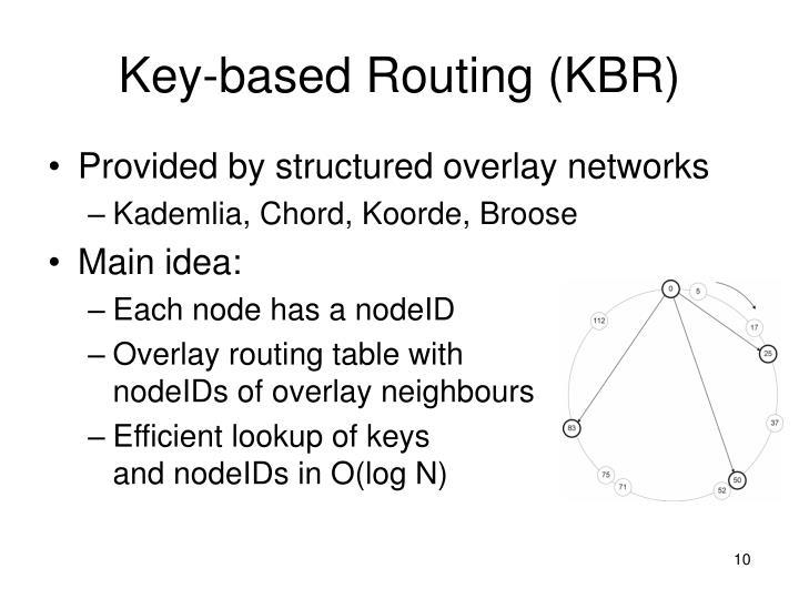 Key-based Routing (KBR)