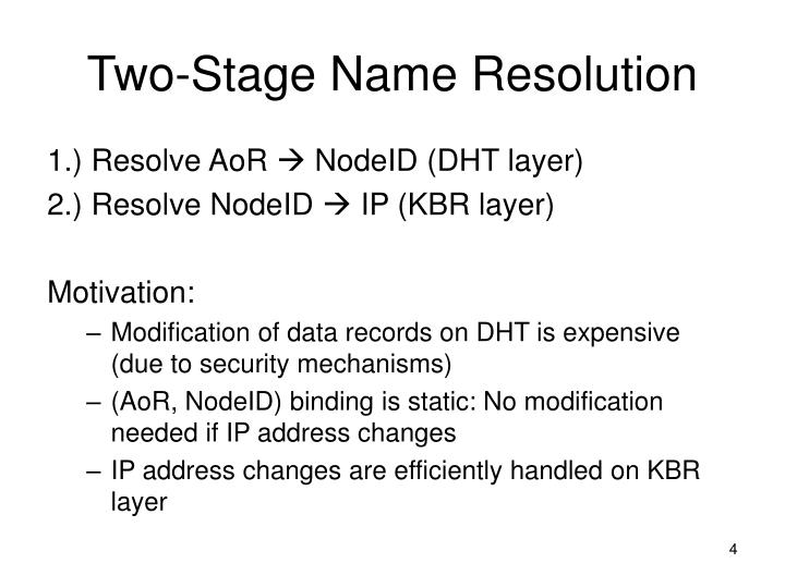 Two-Stage Name Resolution