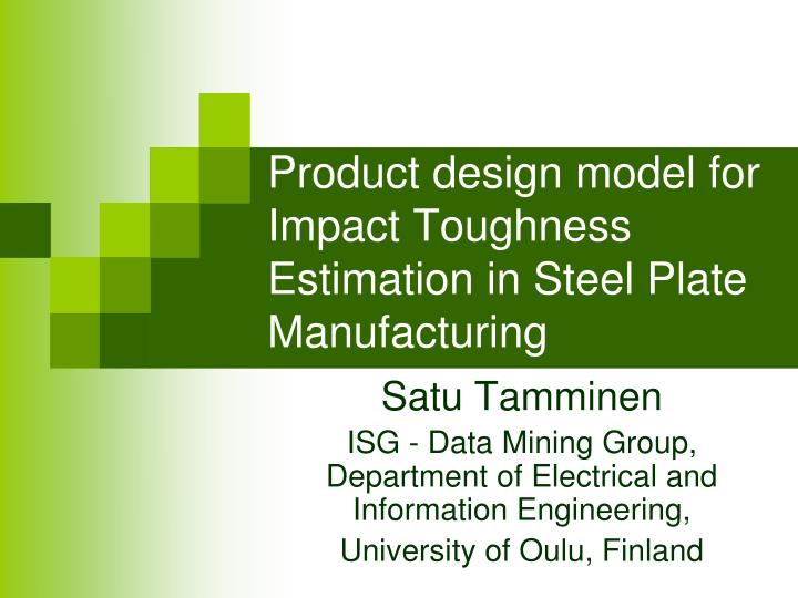 product design model for impact toughness estimation in steel plate manufacturing n.