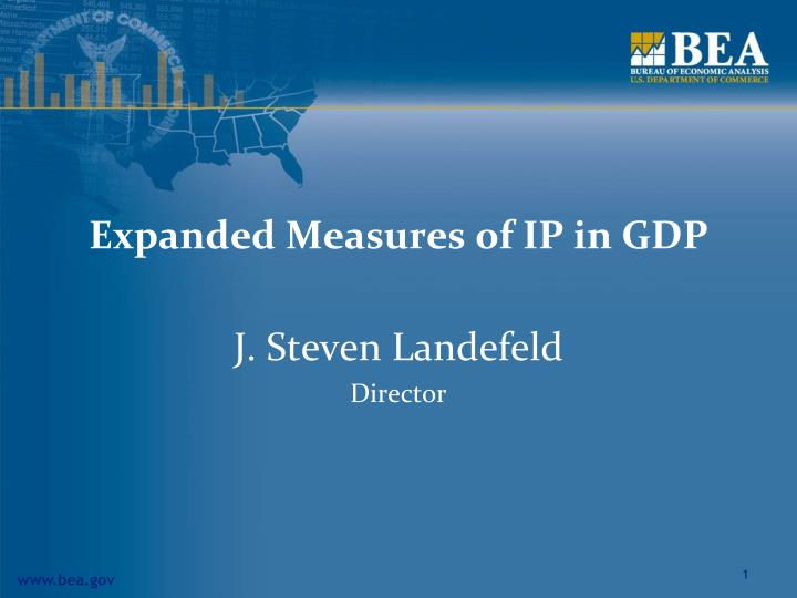 expanded measures of ip in gdp n.