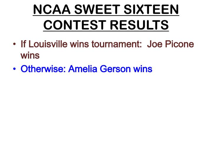 ncaa sweet sixteen contest results n.