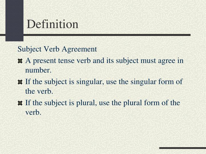 Ppt Subject Verb Agreement Powerpoint Presentation Id6094964