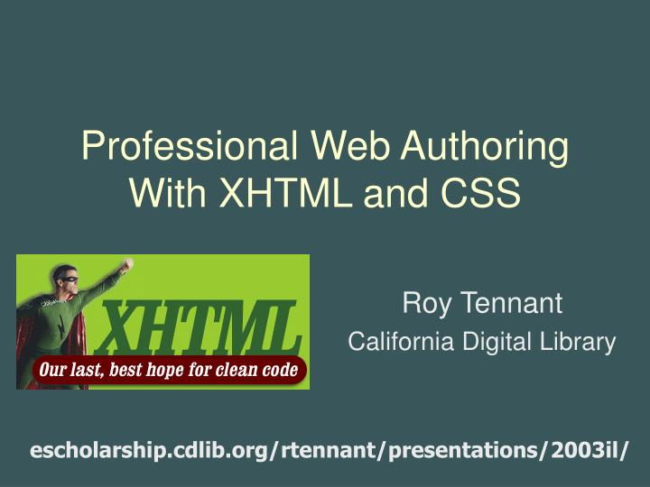 professional web authoring with xhtml and css n.