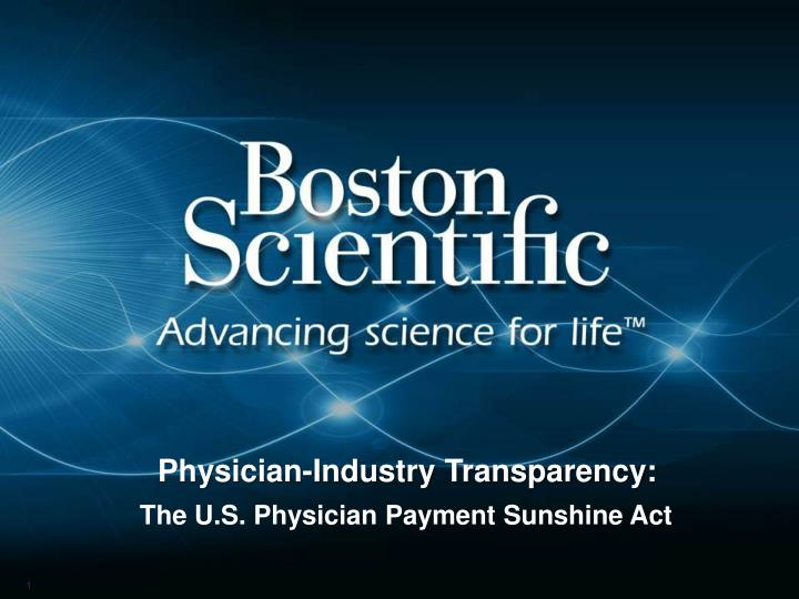 physician industry transparency n.