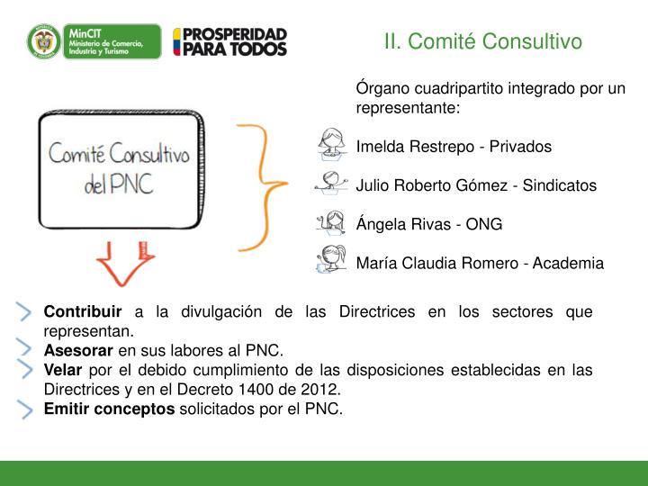 II. Comité Consultivo