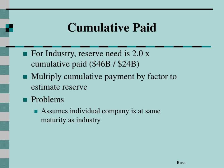 Cumulative Paid