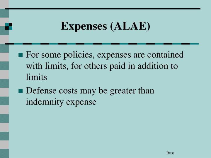Expenses (ALAE)
