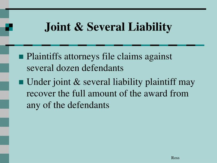 Joint & Several Liability