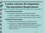 london asbestos developments documentation requirements1