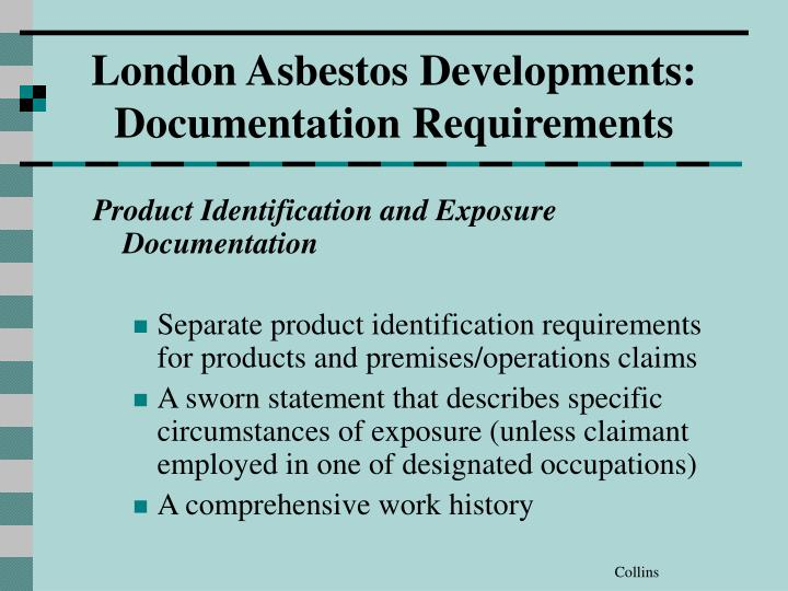 Product Identification and Exposure Documentation