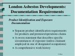london asbestos developments documentation requirements2