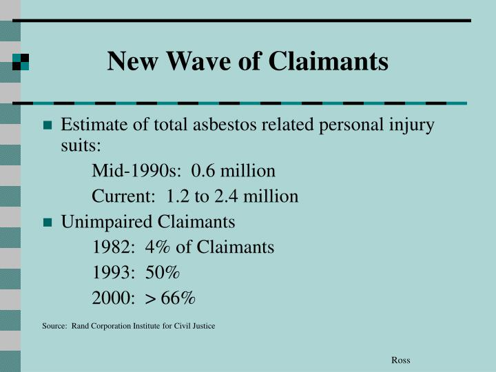 New Wave of Claimants