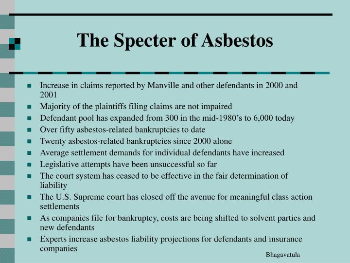 The Specter of Asbestos
