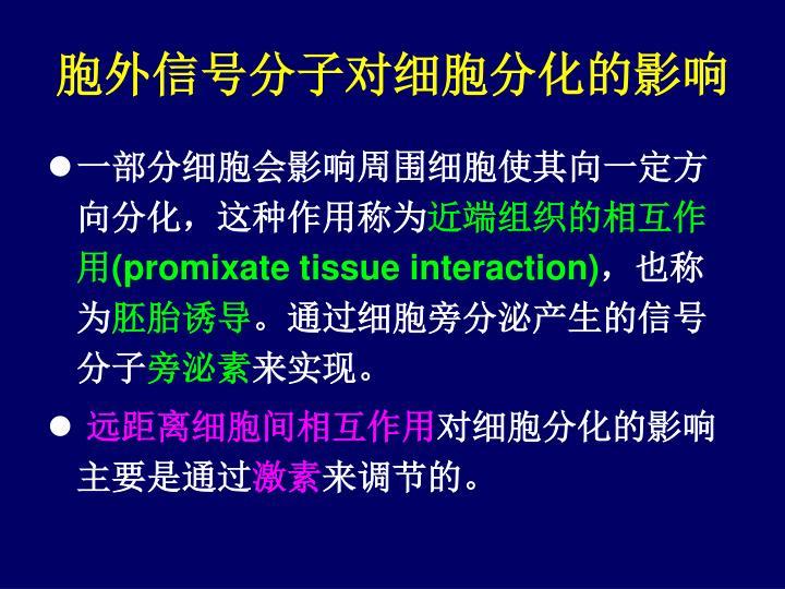 胞外信号分子对细胞分化的影响
