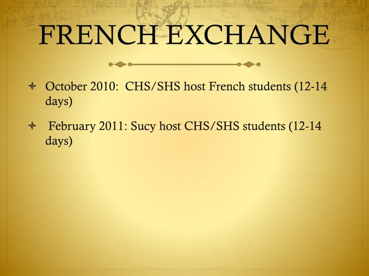french exchange n.