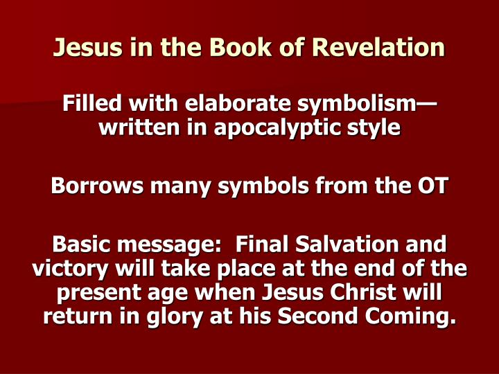 Jesus in the Book of Revelation