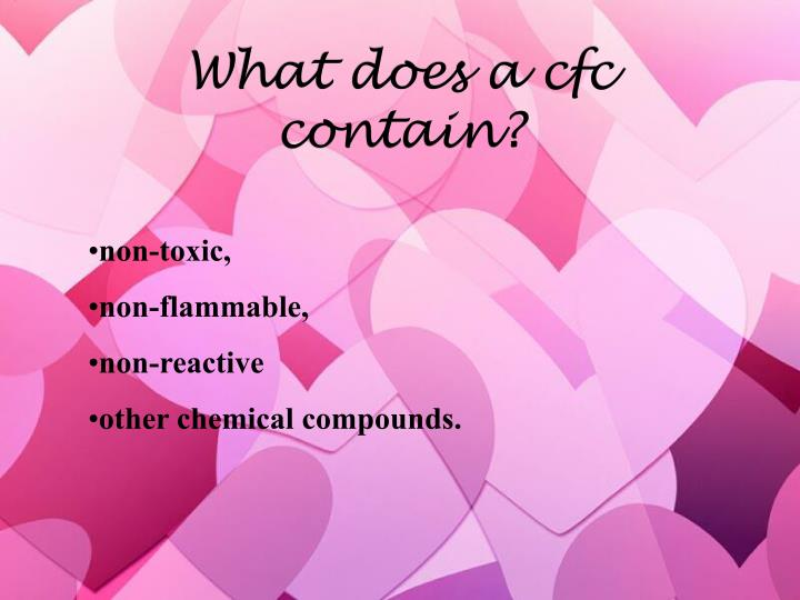 What does a cfc contain?