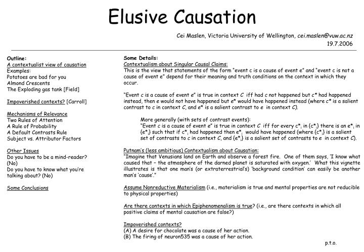 Ppt Elusive Causation Powerpoint Presentation Id6095506