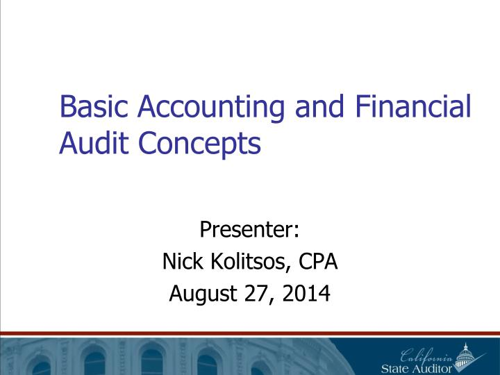 basic accounting and financial audit concepts n.