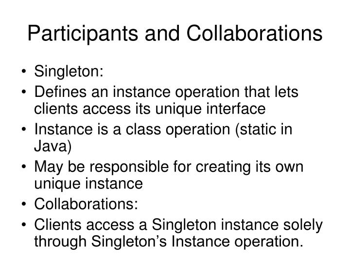 Participants and Collaborations