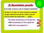 5 resolution proofs
