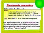 backwards procedure