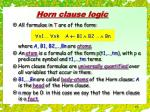 horn clause logic