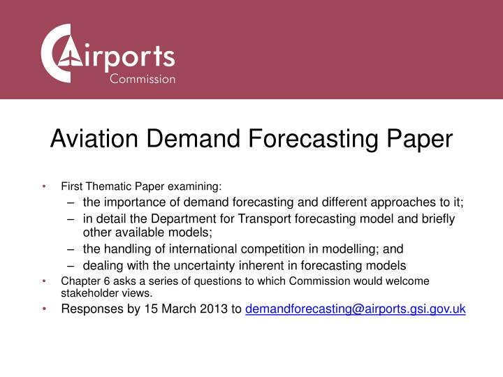 Aviation Demand Forecasting Paper