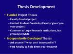thesis development