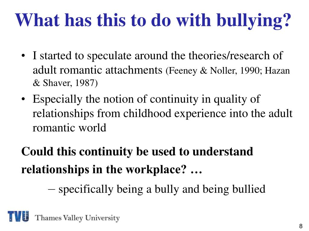 PPT - ATTACHMENT THEORY AND BULLYING IN BUSINESS PowerPoint