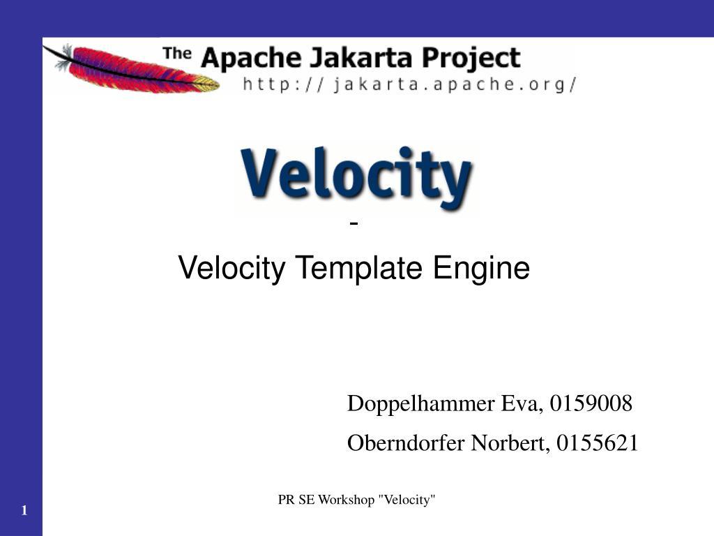 Velocity Template | Ppt Velocity Template Engine Powerpoint Presentation Id 6095852